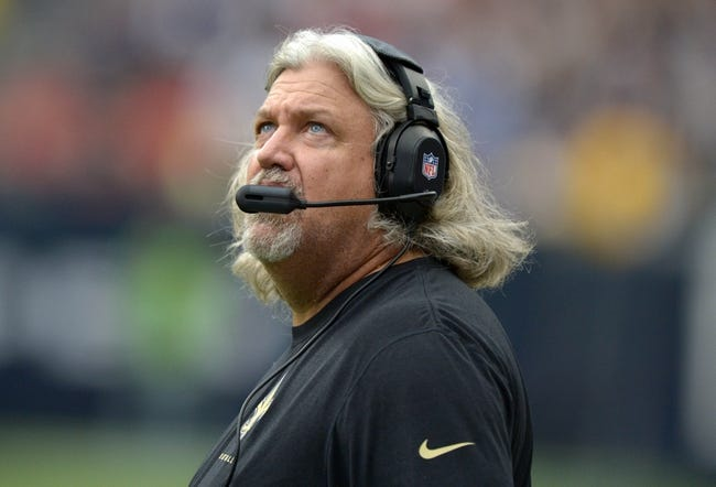 Aug 25, 2013; Houston, TX, USA; New Orleans Saints defensive coordinator Rob Ryan during the game against the Houston Texans at Reliant Stadium. Mandatory Credit: Kirby Lee-USA TODAY Sports