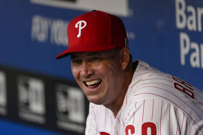 Sep 11, 2013; Philadelphia, PA, USA; Philadelphia Phillies coach Dave Brundage (60) in the dugout prior to playing the San Diego Padres at Citizens Bank Park. The Phillies defeated the Padres 4-2. Mandatory Credit: Howard Smith-USA TODAY Sports