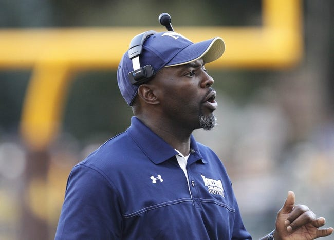 Sep 14, 2013; Laramie, WY, USA; Northern Colorado Bears head coach Earnest Collins Jr on the sidelines against the Wyoming Cowboys during the third quarter at War Memorial Stadium. Mandatory Credit: Troy Babbitt-USA TODAY Sports