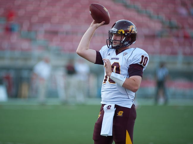 Sep 14, 2013; Las Vegas, NV, USA; Central Michigan quarterback Cooper Rush warms up before a game against UNLV at Sam Boyd Stadium. Mandatory Credit: Stephen R. Sylvanie-USA TODAY Sports