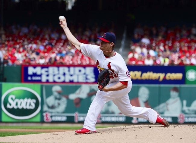 Sep 15, 2013; St. Louis, MO, USA; St. Louis Cardinals starting pitcher Shelby Miller (40) delivers a pitch against the Seattle Mariners at Busch Stadium. Mandatory Credit: Scott Rovak-USA TODAY Sports