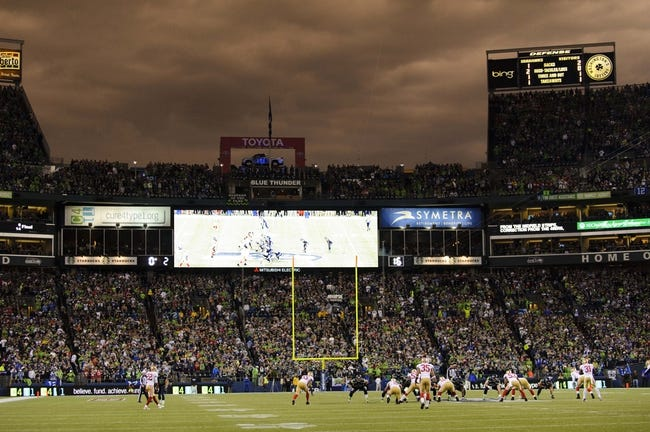 Sep 15, 2013; Seattle, WA, USA; A general view during the 1st half between the Seattle Seahawks and the San Francisco 49ers at CenturyLink Field. Seattle defeated San Francisco 29-3. Mandatory Credit: Steven Bisig-USA TODAY Sports