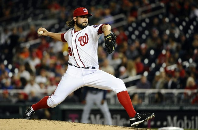 Sep 17, 2013; Washington, DC, USA; Washington Nationals pitcher Tanner Roark (59) throws during the third inning against the Atlanta Braves at Nationals Park. Mandatory Credit: Brad Mills-USA TODAY Sports