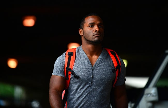 Sep 16, 2013; Cincinnati, OH, USA; Cincinnati Bengals running back Giovani Bernard (25) prior to the game against the Pittsburgh Steelers at Paul Brown Stadium. Mandatory Credit: Andrew Weber-USA TODAY Sports