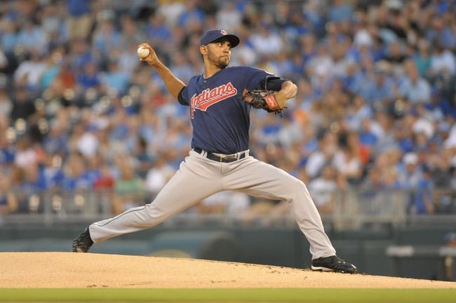 Sep 18, 2013; Kansas City, MO, USA; Cleveland Indians starting pitcher Danny Salazar (31) delivers a pitch in the first inning of the game against the Kansas City Royals at Kauffman Stadium. Mandatory Credit: Denny Medley-USA TODAY Sports