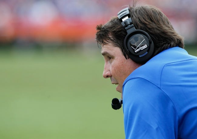 Aug 31, 2013; Gainesville, FL, USA; Florida Gators head coach Will Muschamp during the first half against the Toledo Rockets at Ben Hill Griffin Stadium. Mandatory Credit: Kim Klement-USA TODAY Sports
