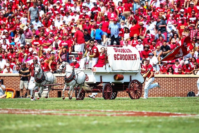 Sep 14, 2013; Norman, OK, USA; Oklahoma Sooners Sooner Schooner runs out onto the field after a touchdown during the game against the Tulsa Golden Hurricane at Gaylord Family - Oklahoma Memorial Stadium. Oklahoma won 51-20. Mandatory Credit: Kevin Jairaj-USA TODAY Sports
