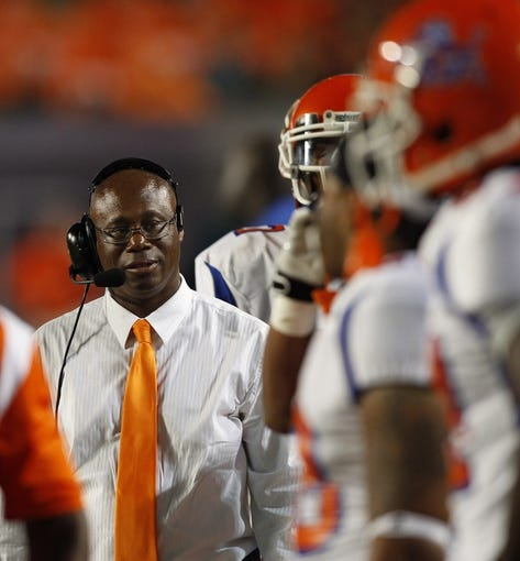 Sep 21, 2013; Miami Gardens, FL, USA;  Savannah State Tigers head coach Earnest Wilson III in the second quarter of a game against the Miami Hurricanes at Sun Life Stadium. Mandatory Credit: Robert Mayer-USA TODAY Sports