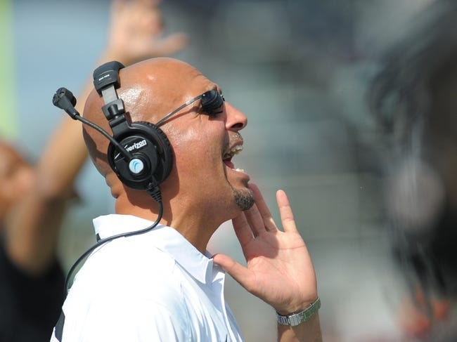 Sep 21, 2013; Foxborough, MA, USA; Vanderbilt Commodores head coach James Franklin during the second half against the Massachusetts Minutemen at Gillette Stadium. Mandatory Credit: Bob DeChiara-USA TODAY Sports