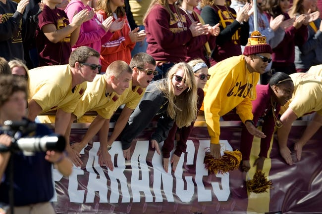 Sep 21, 2013; Mount Pleasant, MI, USA; Central Michigan Chippewas fans show excitement before the game against the Toledo Rockets at Kelly/Shorts Stadium. Rockets beat the Chippewas 38-17. Mandatory Credit: Raj Mehta-USA TODAY Sports