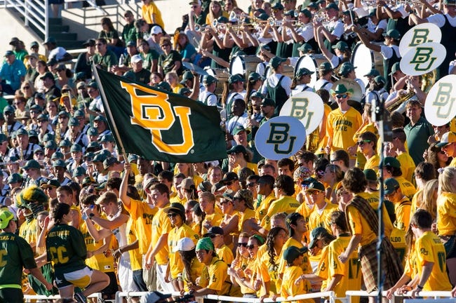 Sep 21, 2013; Waco, TX, USA; The Baylor Bears student  section during the game against the Louisiana Monroe Warhawks at Floyd Casey Stadium. The Bears defeated the Warhawks 70-7. Mandatory Credit: Jerome Miron-USA TODAY Sports