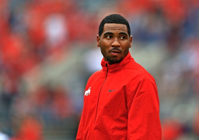 Sep 21, 2013; Columbus, OH, USA; Ohio State Buckeyes quarterback Braxton Miller (5) prior to the game against the Florida A&M Rattlers at Ohio Stadium. Mandatory Credit: Andrew Weber-USA TODAY Sports