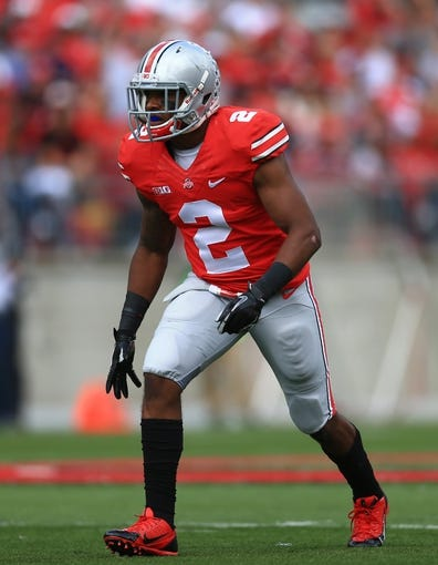 Sep 21, 2013; Columbus, OH, USA; Ohio State Buckeyes safety Christian Bryant (2) against Florida A&M Rattlers at Ohio Stadium. Mandatory Credit: Andrew Weber-USA TODAY Sports