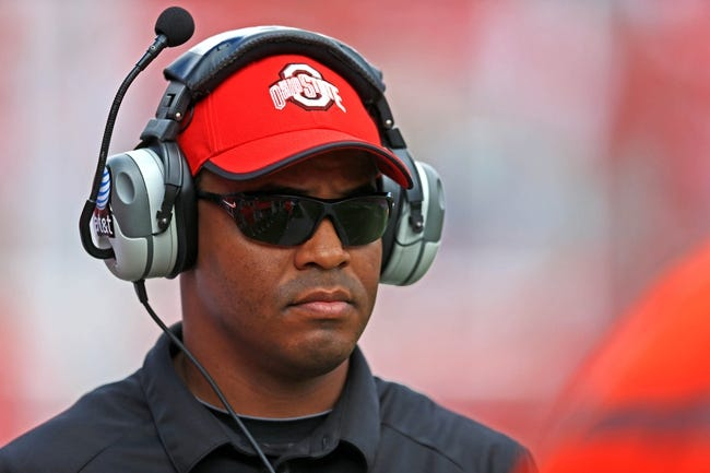Sep 21, 2013; Columbus, OH, USA; Ohio State Buckeyes coach Everett Withers against the Florida A&M Rattlers at Ohio Stadium. Mandatory Credit: Andrew Weber-USA TODAY Sports