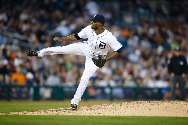 Sep 18, 2013; Detroit, MI, USA; Detroit Tigers relief pitcher Al Alburquerque (62) pitches against the Seattle Mariners at Comerica Park. Mandatory Credit: Rick Osentoski-USA TODAY Sports