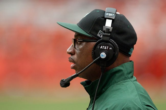 Sep 21, 2013; Syracuse, NY, USA; Tulane Green Wave head coach Curtis Johnson on the sideline in the third quarter of a game against the Syracuse Orange at Carrier Dome. Syracuse won the game 52-17. Mandatory Credit: Mark Konezny-USA TODAY Sports