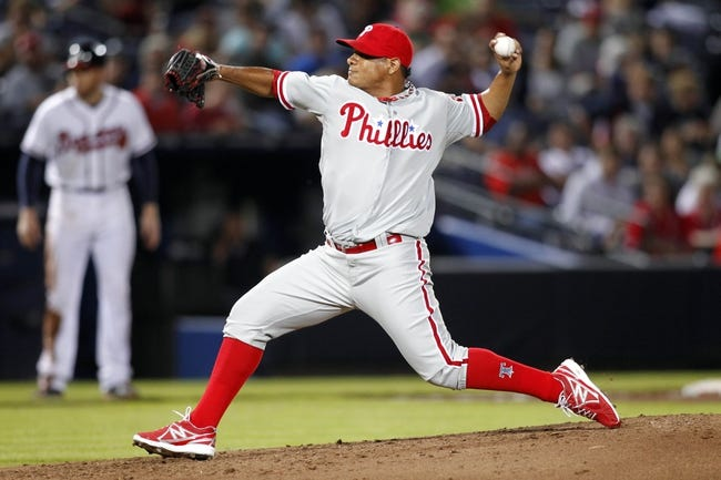 Sep 26, 2013; Atlanta, GA, USA; Philadelphia Phillies starting pitcher Mauricio Robles (67) throws a pitch against the Atlanta Braves in the second inning at Turner Field. Mandatory Credit: Brett Davis-USA TODAY Sports