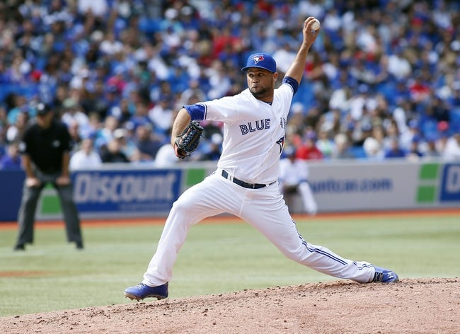 Sep 29, 2013; Toronto, Ontario, CAN; Toronto Blue Jays pitcher Brandon Gomes (47) throws in the fourth inning against the Tampa Bay Rays at Rogers Centre. Tampa defeated Toronto 7-6. Mandatory Credit: John E. Sokolowski-USA TODAY Sports