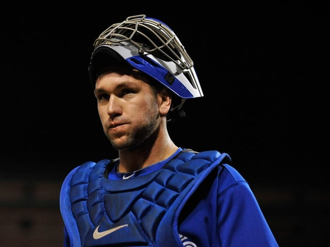 Sep 25, 2013; Baltimore, MD, USA; Toronto Blue Jays catcher Josh Thole (30) during a game against the Baltimore Orioles at Oriole Park at Camden Yards. The Orioles defeated the Blue Jays 9-5. Mandatory Credit: Joy R. Absalon-USA TODAY Sports