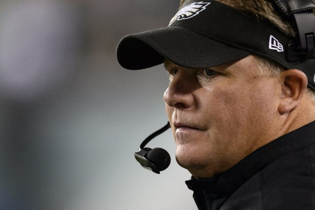 Aug 15, 2013; Philadelphia, PA, USA; Philadelphia Eagles head coach Chip Kelly along the sidelines during the fourth quarter against the Carolina Panthers at Lincoln Financial Field. The Eagles defeated the Panthers 14-9. Mandatory Credit: Howard Smith-USA TODAY Sports