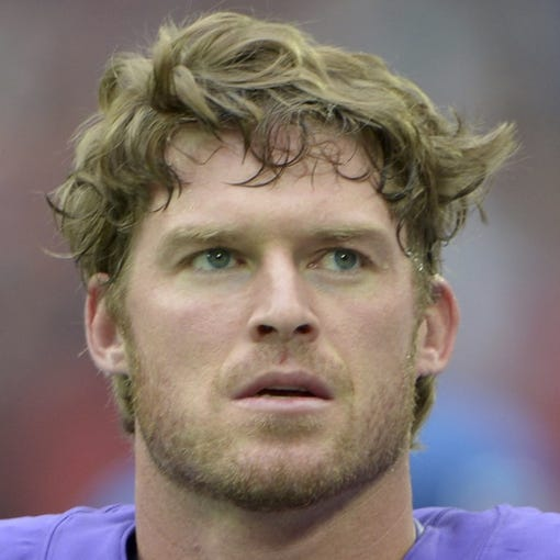 Sep 29, 2013; London, UNITED KINGDOM; Minnesota Vikings long snapper Cullen Loeffler (46) during the NFL International Series game against the Pittsburgh Steelers at Wembley Stadium. The Vikings defeated the Steelers 34-27. Mandatory Credit: Kirby Lee-USA TODAY Sports