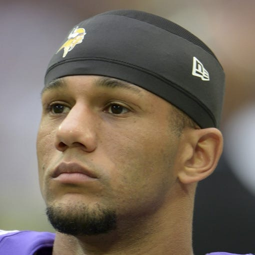 Sep 29, 2013; London, UNITED KINGDOM; Minnesota Vikings cornerback Marcus Sherels (35) during the NFL International Series game against the Pittsburgh Steelers at Wembley Stadium. The Vikings defeated the Steelers 34-27. Mandatory Credit: Kirby Lee-USA TODAY Sports