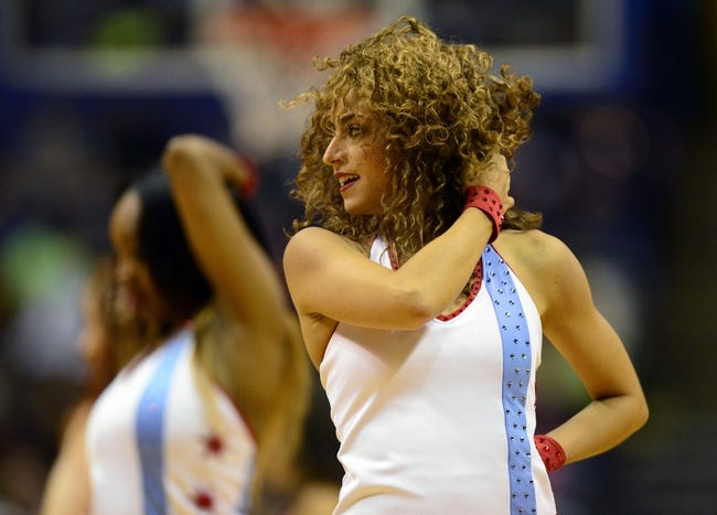 Oct 7, 2013; St. Louis, MO, USA; Chicago Bulls dancer Lovabulls performs during the fourth quarter of a game against the Memphis Grizzlies at Scottrade Center. Chicago defeated Memphis 106-87. Mandatory Credit: Jeff Curry-USA TODAY Sports