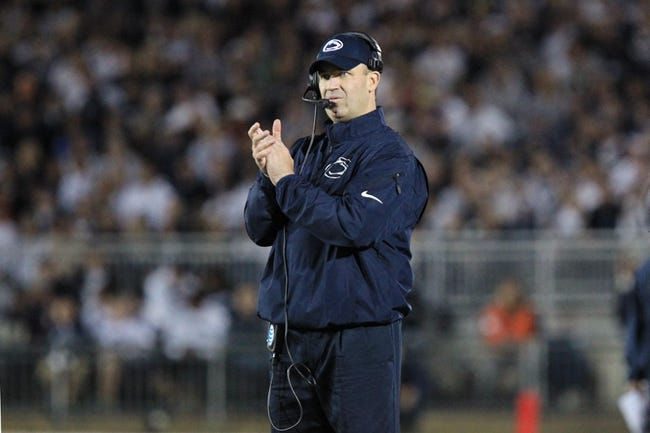 Sep 14, 2013; University Park, PA, USA; Penn State Nittany Lions head coach Bill O'Brien looks on from the sideline during the third quarter against the Central Florida Knights at Beaver Stadium. Mandatory Credit: Matthew O'Haren-USA TODAY Sports