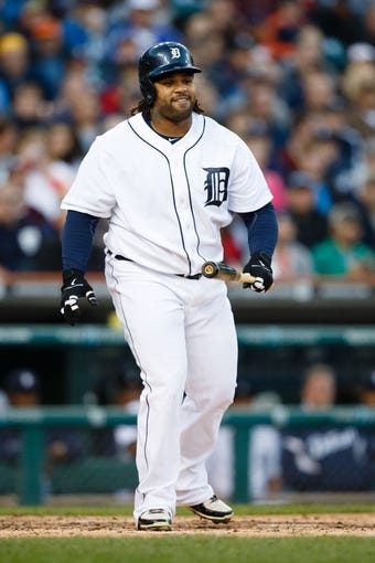 Sep 16, 2013; Detroit, MI, USA; Detroit Tigers first baseman Prince Fielder (28) at bat against the Seattle Mariners at Comerica Park. Mandatory Credit: Rick Osentoski-USA TODAY Sports