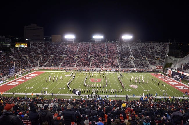 Oct 3, 2013; Salt Lake City, UT, USA; General view of Rice-Eccles Stadium during the NCAA football game between the UCLA Bruins and the Utah Utes. Mandatory Credit: Kirby Lee-USA TODAY Sports