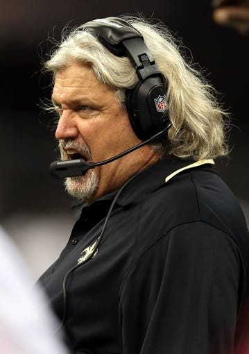 Sep 30, 2013; New Orleans, LA, USA; New Orleans Saints defensive coordinator Rob Ryan during their game against the Miami Dolphins at the Mercedes-Benz Superdome. Mandatory Credit: Chuck Cook-USA TODAY Sports