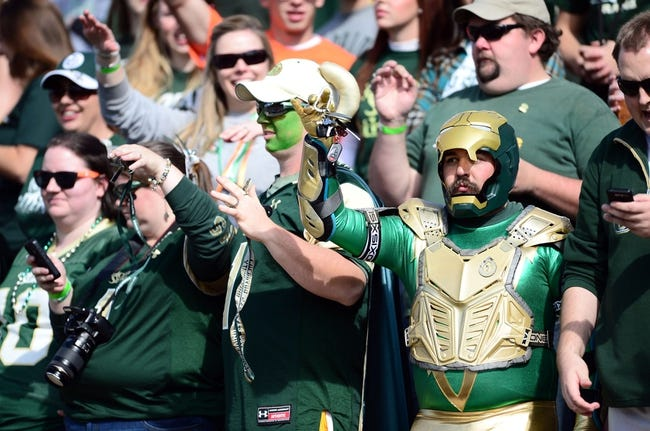 Oct 12, 2013; Fort Collins, CO, USA; Colorado State Rams fans rally in the first quarter of the game against the San Jose State Spartans at Hughes Stadium. Mandatory Credit: Ron Chenoy-USA TODAY Sports