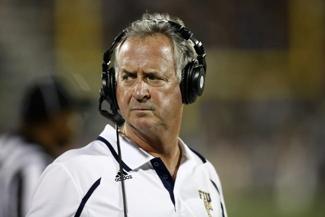 Oct 12, 2013; Miami, FL, USA; Florida International Panthers head coach Ron Turner in the first quarter of a game against the Alabama-Birmingham Blazers at FIU Stadium. Mandatory Credit: Robert Mayer-USA TODAY Sports