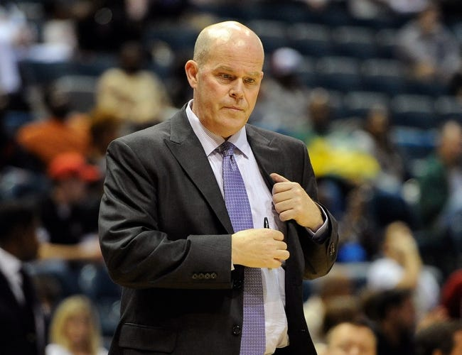 Oct 12, 2013; Milwaukee, WI, USA;   Charlotte Bobcats head coach Steve Clifford watches game against the Milwaukee Bucks in the 3rd period at BMO Harris Bradley Center. Mandatory Credit: Benny Sieu-USA TODAY Sports