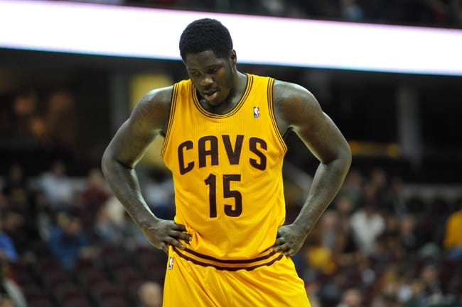 Oct 8, 2013; Cleveland Cavaliers power forward Anthony Bennett (15) during a game against the Milwaukee Bucks at Quicken Loans Arena. Cleveland won 99-87. Mandatory Credit: David Richard-USA TODAY Sports