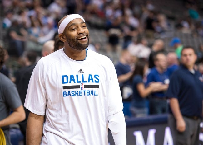 Oct 7, 2013; Dallas, TX, USA; Dallas Mavericks shooting guard Vince Carter (25) warms up before the game against the New Orleans Pelicans at the American Airlines Center. The Pelicans defeated the Mavericks 94-92. Mandatory Credit: Jerome Miron-USA TODAY Sports