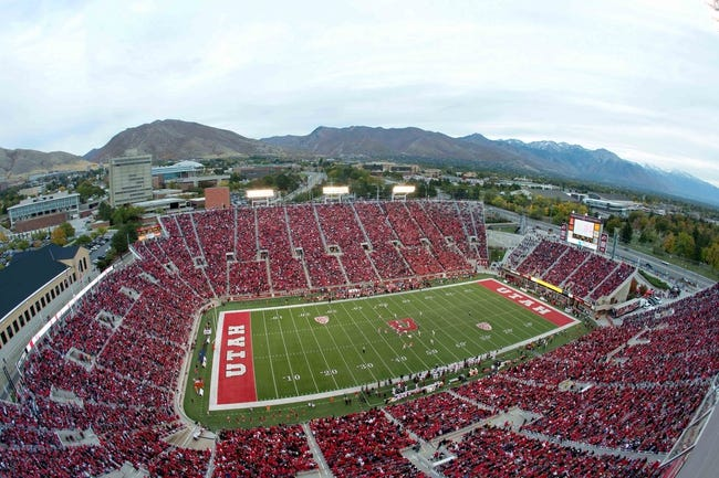 Oct 12, 2013; Salt Lake City, UT, USA; A general view of Rice-Eccles Stadium during the second half of a game between the Utah Utes and the Stanford Cardinal. Utah defeated Stanford 27-21. Mandatory Credit: Russ Isabella-USA TODAY Sports