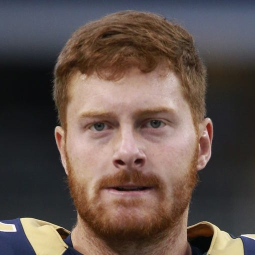 Sep 22, 2013; Arlington, TX, USSt. Louis Rams long snapper Jake McQuaide (44) on the field before the game  against the Dallas Cowboys at AT&T Stadium. The Dallas Cowboys beat the St. Louis Rams 31-7. Mandatory Credit: Tim Heitman-USA TODAY Sports