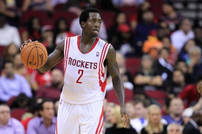 Oct 16, 2013; Houston, TX, USA; Houston Rockets point guard Patrick Beverley (2) dribbles against the Orlando Magic during the second half at Toyota Center. The Rockets won 108-104. Mandatory Credit: Thomas Campbell-USA TODAY Sports