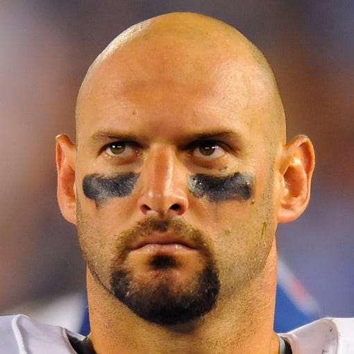 Sep 9, 2013; San Diego, CA, USA; San Diego Chargers linebacker Jarret Johnson (96) during the first half against the Houston Texans at Qualcomm Stadium. Mandatory Credit: Christopher Hanewinckel-USA TODAY Sports