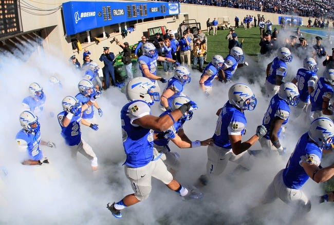 Oct 26, 2013; Colorado Springs, CO, USA; A general view as the Air Force Falcons enter the field to take on the Notre Dame Fighting Irish at Falcon Stadium. The Fighting Irish won 45-10. Mandatory Credit: Isaiah J. Downing-USA TODAY Sports