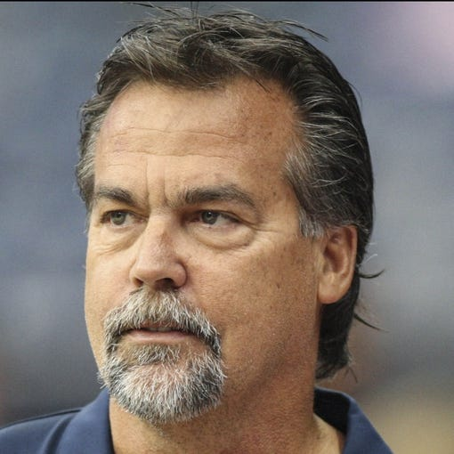 Oct 13, 2013; Houston, TX, USA; St. Louis Rams head coach Jeff Fisher stands on the sideline before a game against the Houston Texans at Reliant Stadium. Mandatory Credit: Troy Taormina-USA TODAY Sports