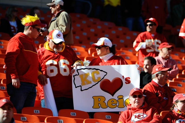 Oct 27, 2013; Kansas City, MO, USA; Fans watch before the game between the Cleveland Browns and Kansas City Chiefs at Arrowhead Stadium. The Chiefs won the game 23-17. Mandatory Credit: John Rieger-USA TODAY Sports