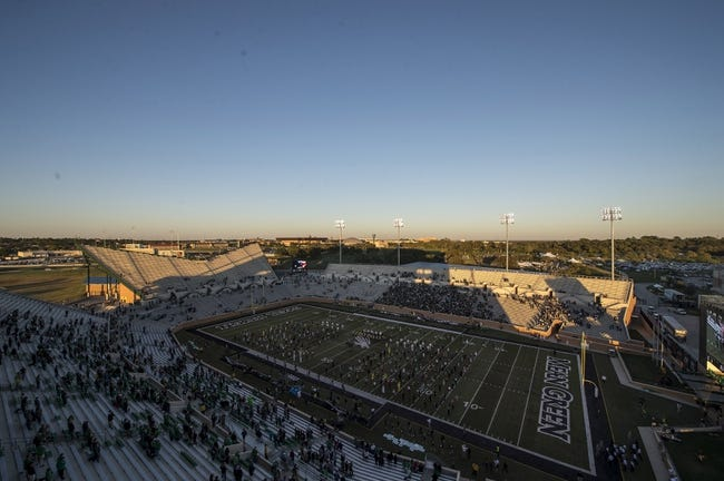 Oct 31, 2013; Denton, TX, USA; A view of the stadium before the game between the North Texas Mean Green and the Rice Owls at Apogee Stadium. Mandatory Credit: Jerome Miron-USA TODAY Sports