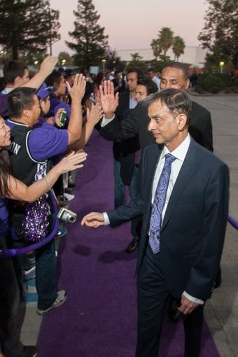 Oct 30, 2013; Sacramento, CA, USA; Sacramento Kings owner Vivek Ranadive arrives to the Sleep Train Arena for the game between the Sacramento Kings and Denver Nuggets. Mandatory Credit: Ed Szczepanski-USA TODAY Sports