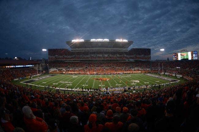 Nov 1, 2013; Corvallis, OR, USA; General view of the NCAA football game between the Southern California Trojans and the Oregon State Beavers at Reser Stadium. Mandatory Credit: Kirby Lee-USA TODAY Sports
