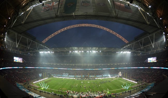 Oct 27, 2013; London, United Kingdom; General view of the NFL International Series game between the San Francisco 49ers and the Jacksonville Jaguars at Wembley Stadium. The 49ers defeated the Jaguars 42-10. Mandatory Credit: Kirby Lee-USA TODAY Sports