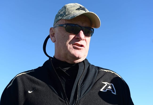 Nov 2, 2013; Colorado Springs, CO, USA; Army Black Knights head coach Rich Ellerson before the game against the Air Force Falcons at Falcon Stadium. Mandatory Credit: Ron Chenoy-USA TODAY Sports