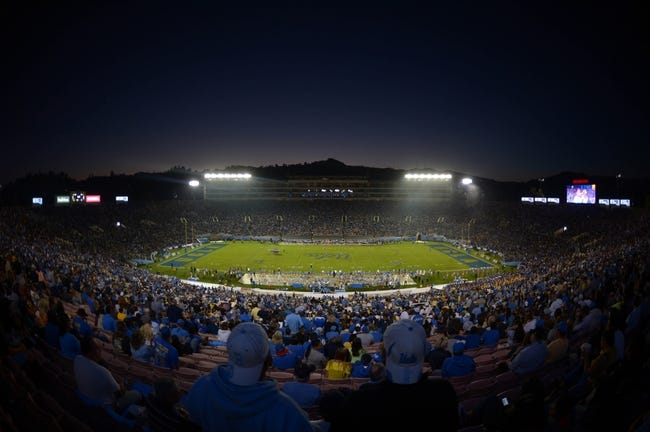 Nov 2, 2013; Pasadena, CA, USA; General view of the Rose Bowl during the NCAA football game between the Colorado Buffaloes and the UCLA Bruins. Mandatory Credit: Kirby Lee-USA TODAY Sports