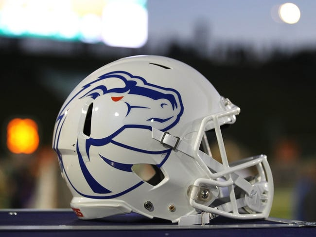 Nov 2, 2013; Fort Collins, CO, USA; A general view of the Boise State Broncos helmet at a game against the Colorado State Rams at Hughes Stadium. The Broncos defeated the Rams 42-30. Mandatory Credit: Troy Babbitt-USA TODAY Sports